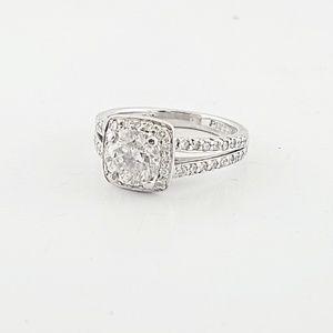 Jewelry - Platinum 1.01 Carat Round Diamond Engement Ring
